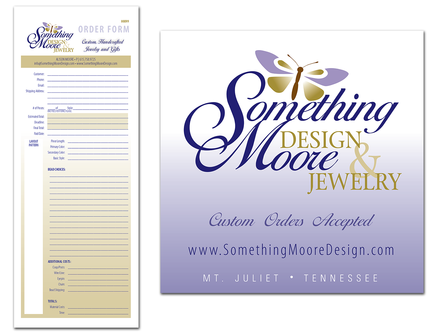 Order Forms and Banner