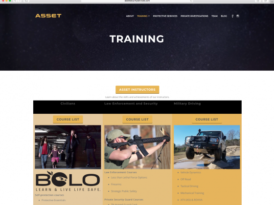 ASSET Training Page