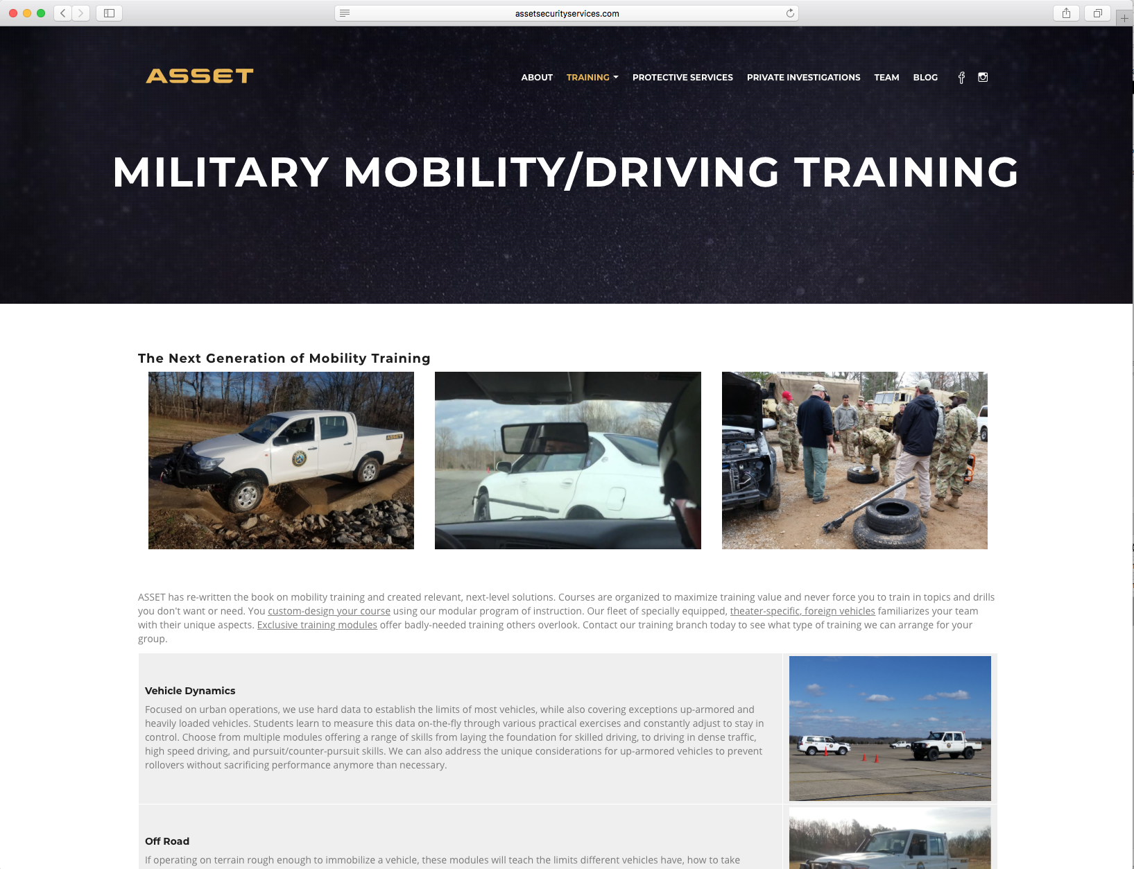 ASSET Mobility Page