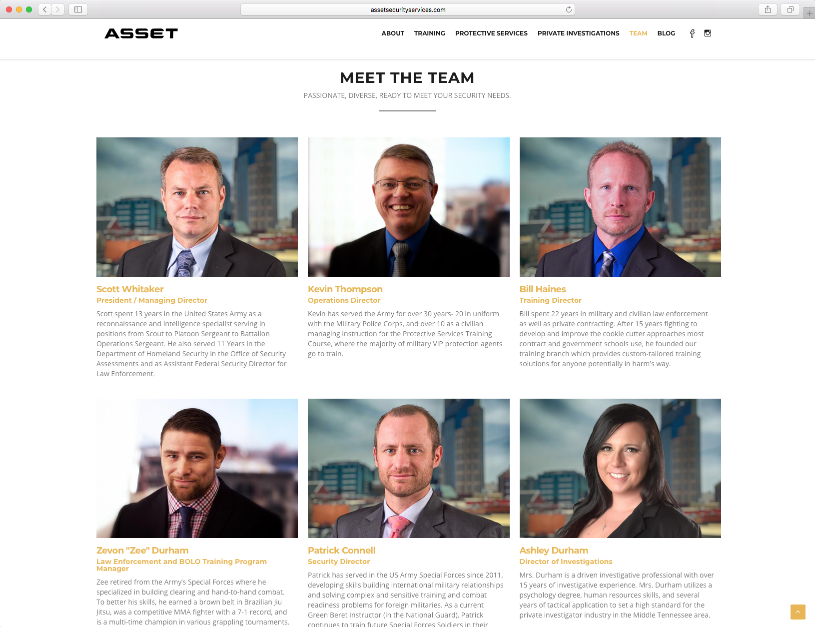 ASSET Team Page