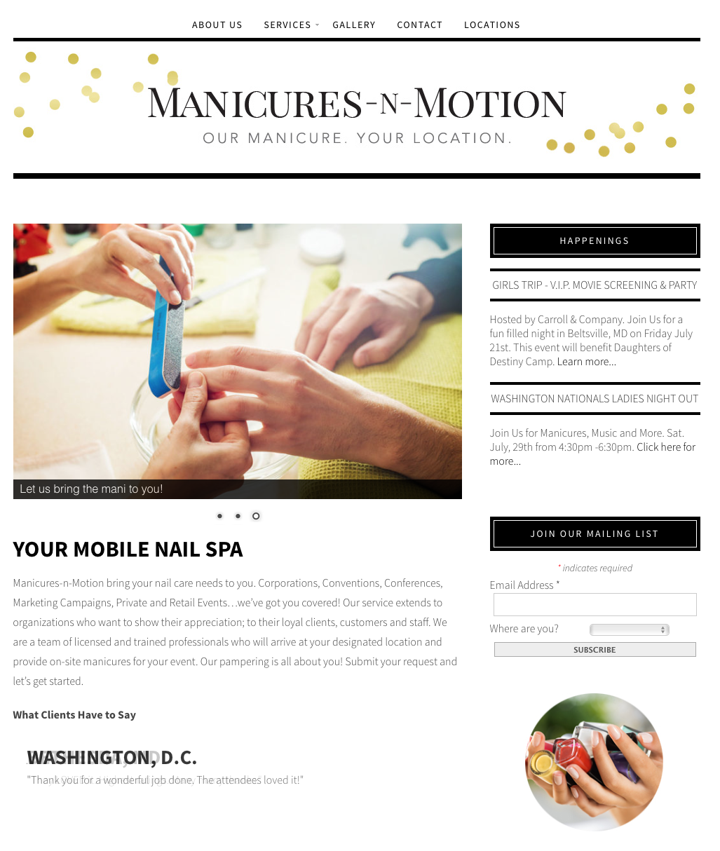 Manicures N Motion Home Page